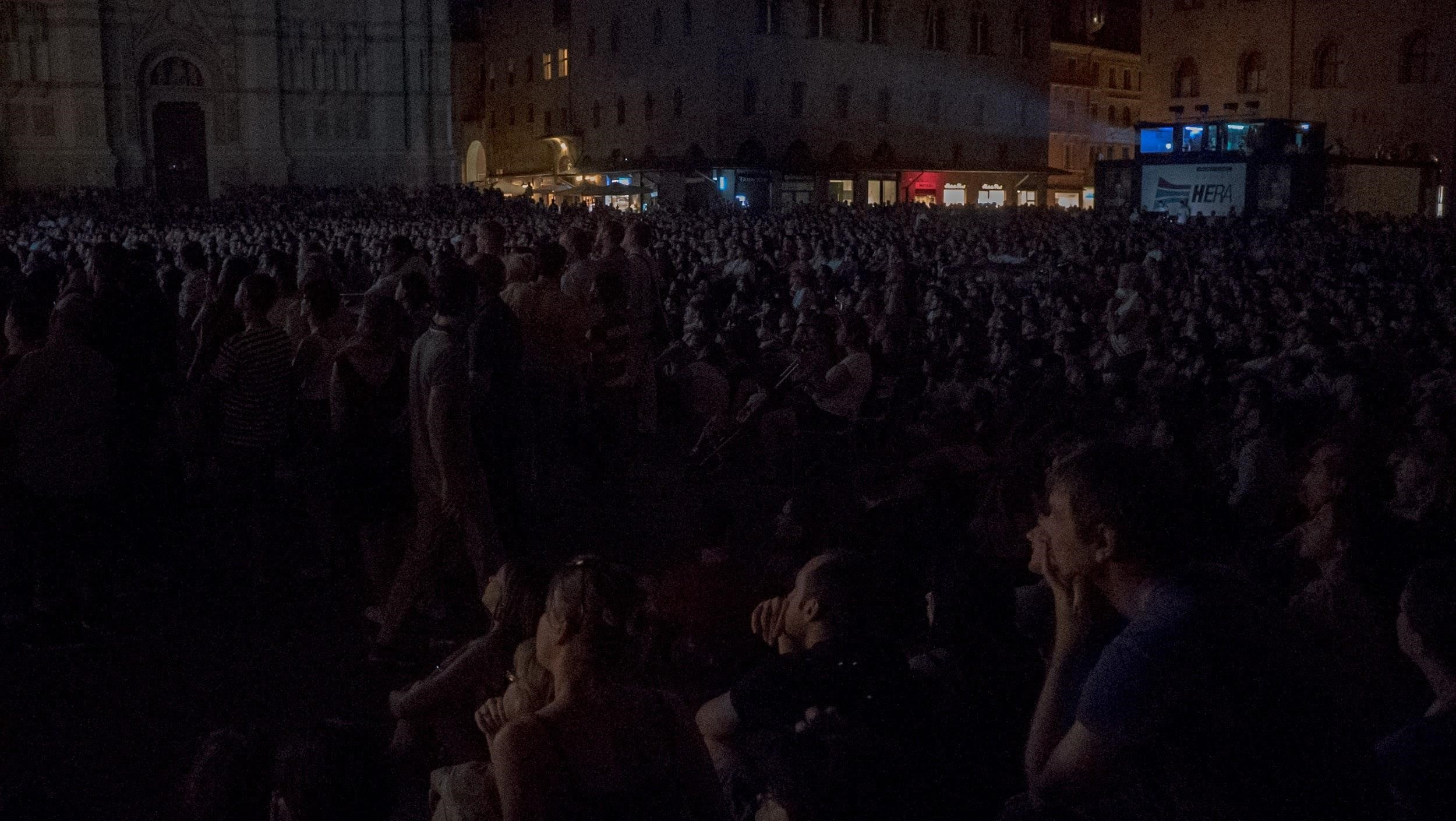 Modern Times (1936). An estimated 7,000 people were at Piazza Maggiore that night.