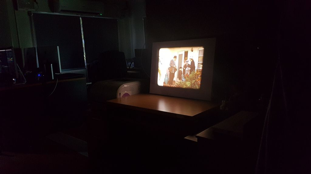 Film projection of the Kodachrome home movie