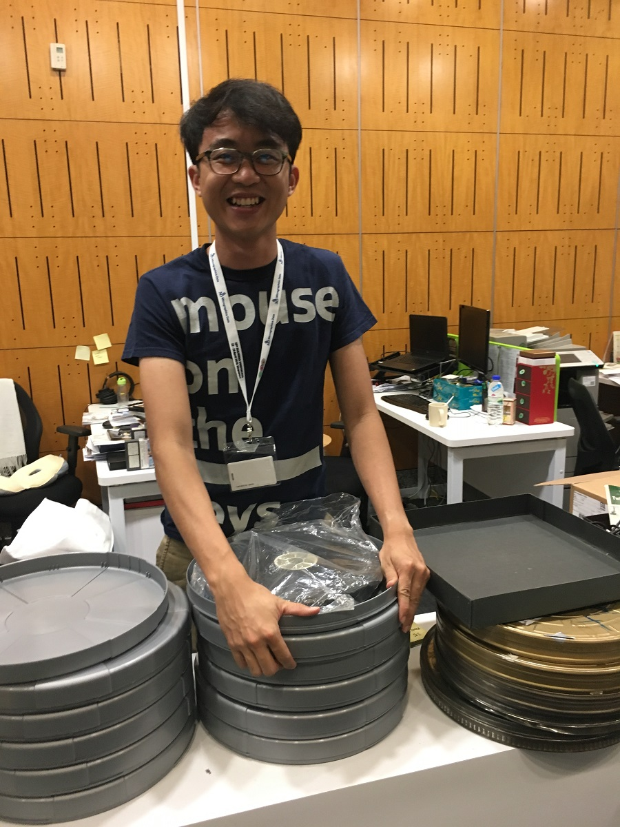 Preparing films for depository. Film in plastic covering is a definite no.